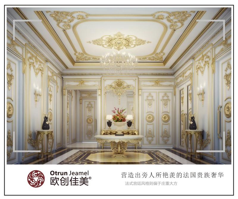法式风格,欧式线条,洛可可设计元素,精美造型,奢华吊顶空间,顶面美学